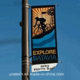 Rua de metal pólo de luz de sinalização de mídia de imagens publicitárias cabide (BT11)