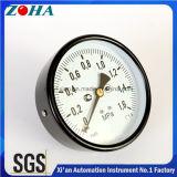 4 pouces 1.6MPa Steel Case Brass Internal Manometers Général Mesure de pression moyenne Instrument