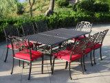 Morire la Tabella pranzante esterna della mobilia del giardino della fusion d'alluminio con le presidenze