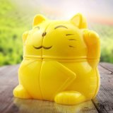 837002-gelukkig Gift van de Pret van het Stuk speelgoed van de Kubus van het Beeldverhaal van de Kat de Eenvoudige Intelligente