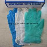 Freie Farben-Prüfung-Vinylwegwerfhandschuhe für Prüfung