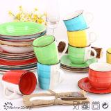Handpainting Ceramic Stoneware 20PCS Dinner Set
