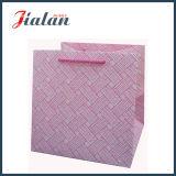 Personnaliser les lignes gravantes en relief sac de papier de achat de papier en ivoire de cadeau de transporteur