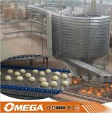 De spiraalvormige KoelToren van de Transportband van het Brood van het Roestvrij staal Koel