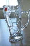 Tazas hechas a máquina transparentes de la cristalería con la placa Sdy-F03858