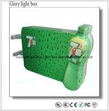 En acrylique de dépression en forme régulière de sucer personnalisé Boîte à lumière LED