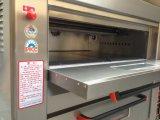 Het 3-dek van de Apparatuur van de bakkerij 6-dienblad de Oven van de Pizza van het Gas