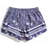 Shorts 100% engraçados da ressaca da placa dos homens do poliéster do azul no Xl