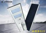 Capteur de mouvement auto-détecteur solaire Systèmes intelligents LED Street Lights 18W