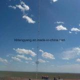 Башня антенны Guyed горячего DIP телекоммуникаций гальванизированная
