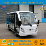 Zhongyi 14 lugares a visitar Ouro carro eléctrico com o Banco Traseiro