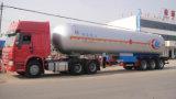 Aleación de aluminio de ASMEEje 3 48 cbm semi-remolque cisterna de combustible