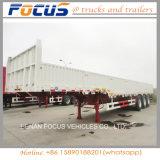3axle 13 Meters de Aanhangwagen van de Lading/van de Omheining met Zijgevel