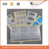 Anti-Fälschung des Haustier-Silber-Kennsatz-Drucken-Aufklebers für elektronisches Produkt