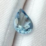 Haut de la qualité de la forme de poire bleu clair transparent Aquamarine pierre naturelle