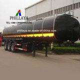Depósito de la calefacción de transporte de asfalto camión remolque cisterna Semi betún
