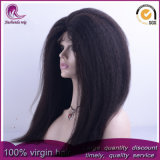 Kinky droites/Yaki cheveux vierges indiennes Full Lace Wig