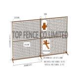 "6ftx9.5FT 캐나다 임시 담 위원회 또는 임시 건축 Fence /2 "" X4 "" X 8 계기 직경 메시 Sapcing 건축 담"