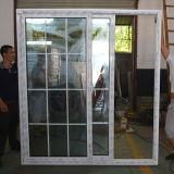 Doppio vetro con il portello scorrevole K02035 di profilo bianco di colore UPVC di griglia