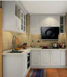 Gabinete de cozinha de madeira moderno do projeto novo por atacado