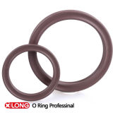 Negro flexible de Viton/anillo de goma de Brown X