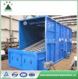 Basura municipal que clasifica el sistema para la planta de reciclaje
