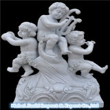 Petite sculpture décorative en jardin de pierre d'ange