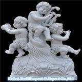 정원 홈을%s 장식적인 작은 천사 백색 대리석 조각품