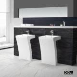 Évier de lavabo de piédestal en surface solide Pure White Bathroom