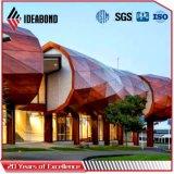 Текстуры конструкции Ideabond композиционный материал новой деревянной алюминиевый (AE-304)