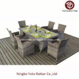Rattan ao ar livre que janta o jogo com frame de aço (1412)