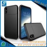 Haltbarer hybrider Kreditkarte-Schlitz-Telefon-Gummikasten für iPhone8