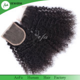 Di vendita chiusura nera naturale brasiliana umana calda dei capelli di Remy diritto