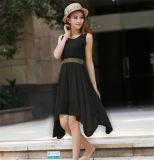 OEM обслуживает дешевое вскользь просто корейское длиннее платье шифоновое (50219)