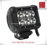 Het LEIDENE Licht van de Auto van 4inch18W CREE LEIDENE Lichte Staaf Waterdicht voor leiden van de Auto SUV van het Licht van de Weg en LEIDEN DrijfLicht