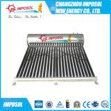 Natural termosifón Sin presión calentador de agua solar