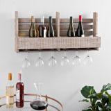Granja de la primavera de la decoración del hogar 8 vaso de vino de Madera estante de pared caja