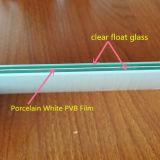 Vidrio laminado de la seguridad con la película blanca de la porcelana PVB de 0.38m m