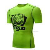 人のためのBrethableの涼しく速い乾燥した適当なスポーツの連続したTシャツ