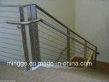 Uso dei corrimani del ferro del metallo esterno o interno