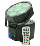 IR 먼 건전지 LED 동위 빛을%s 가진 RGBWA+UV 무선