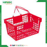 Portatile scegliere il cestino di plastica della maniglia per il supermercato