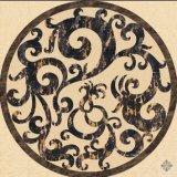 Le marbre Waterjet médaillon / Cryptica Pattern avec Couleurs mélangées