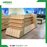 Подвижной деревянный стеллаж для выставки товаров овоща плодоовощ для рынка