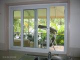 Windows coulissant en aluminium étanche à l'humidité avec des normes australiennes