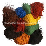Óxido de hierro de pigmento verde/amarillo/negro/rojo para el hormigón