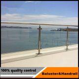 Edelstahl-Glasschelle Frameless Glasbalustrade-Balkon-Geländer