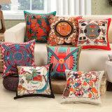 Lanzar decorativos de alta calidad Funda de almohada imprimen funda de cojín