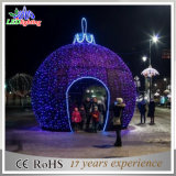 Künstliche im Freienweihnachtsdekoration-riesige Kugel-Lichter des Quadrat-LED