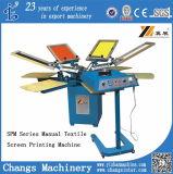 Impresora rotatoria manual de la camiseta de la serie de Spm